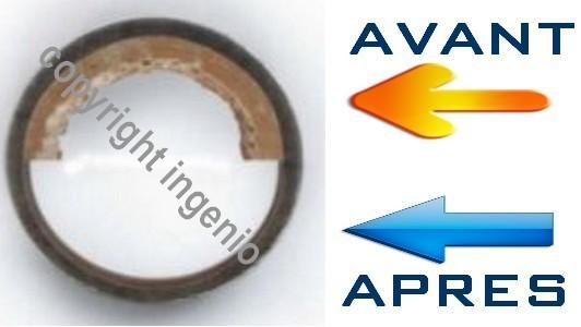 réduction corrosion sur tube acier après pose désemboueur ABC PROTECT