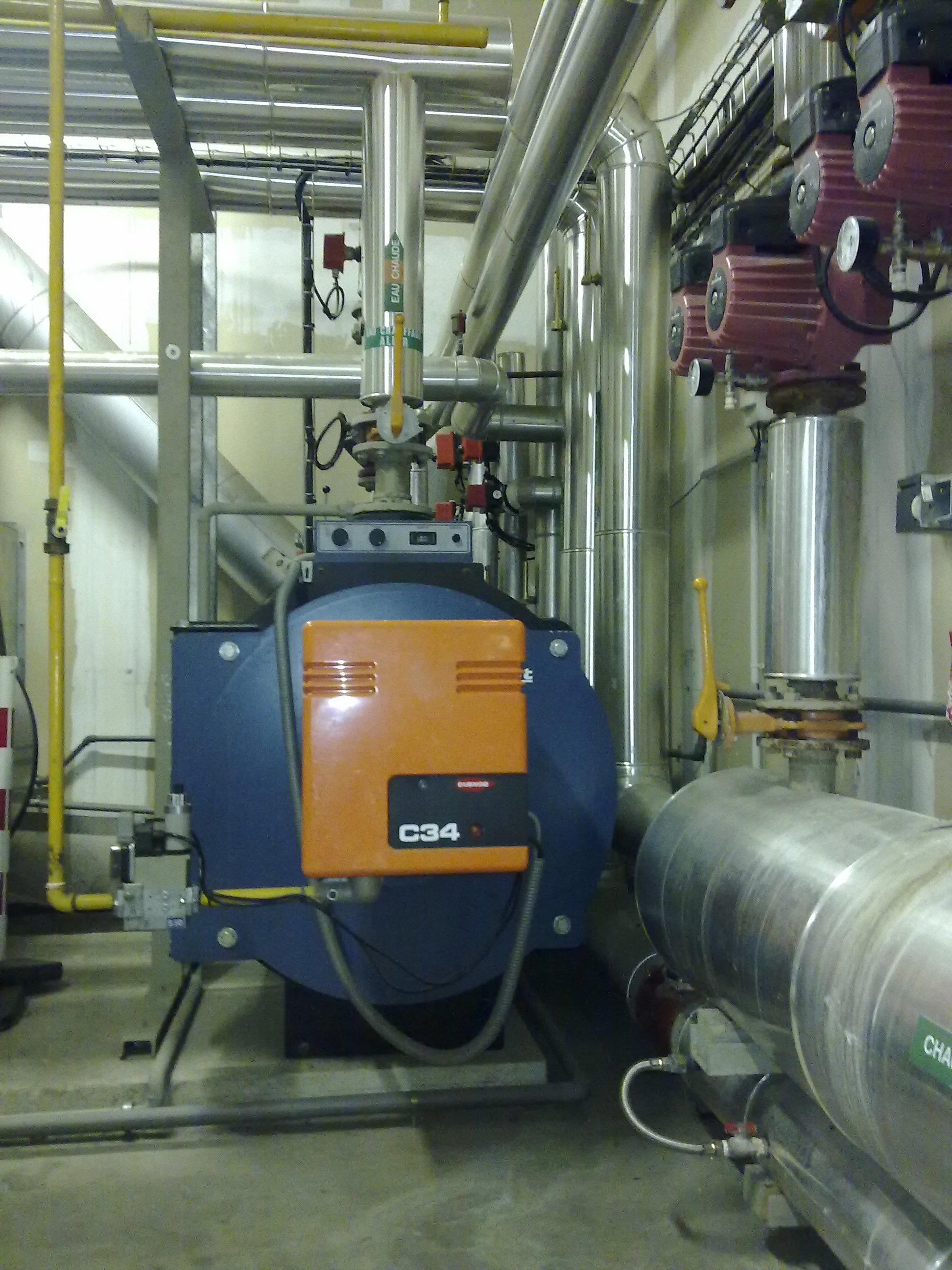 désemboueur abc protect chaufferie 350 kW, désembouage détartrage chaudière, protection embouage boues réseau chauffage, sans chimie, sans entretien