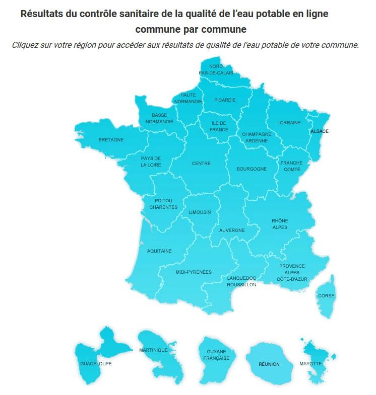 carte calcaire qualité eau france, durete eau potable, dureté eau de ville, qualite eau par commune