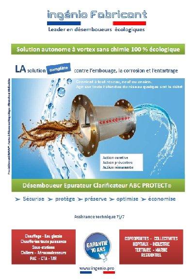 documentation desemboueur ecologique sans entretien ABC PROTECT ingenio fabriqué en France
